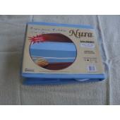 Capa de colchão de Solteiro 20cm c/ zíper Nura 100% Poliester Azul