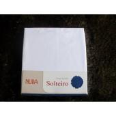 Pacote com 24 Lençóis Lisos de Solteiro s/ elástico Brancos Nura Microfibra