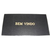 Capacho de Vinil Grande Bem Vindo 60x120cm Cores Gera Tapetes
