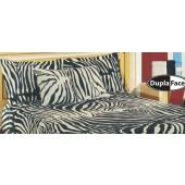 Colcha Safari Zebra Jacquard Casal Omartex Algodão