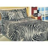 Colcha Safari Zebra Jacquard Solteiro Omartex Algodão