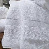 Kit Toalha Social Renascença Cristal Fio Egípcio Branco 2pc Buettner