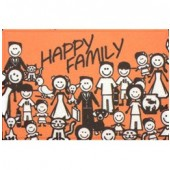 Capacho Vinil Art My Door Divertido 40x60 Happy Family Kapazi