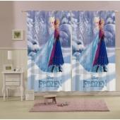 Cortina Estampada Frozen 150x220 2 partes c/ Gliter Lepper