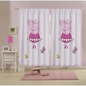 Cortina Estampada Peppa 150x220 2 partes Lepper