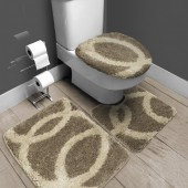 Jogo de Tapete De Banheiro Fina Arte Corrente Sizal 3 peças Jolitex