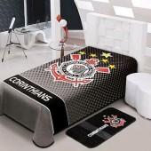 Cobertor Raschel Corinthians Solteiro 1,50x2,20m Jolitex
