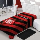 Cobertor Raschel Flamengo Solteiro 1,50x2,20m Jolitex