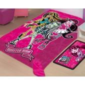 Cobertor Raschel Juvenil Monster High Solteiro 1,50x2,00m Jolitex