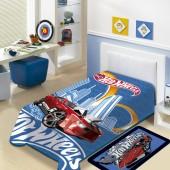 Cobertor Raschel Juvenil Hot Wheels Solteiro 1,50x2,00m Jolitex