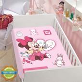 Manta Infantil Microfibra Disney Rosa 80x1,10m Jolitex