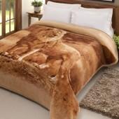 Cobertor Tradicional Plus Pelo Alto Leão Casal 1,80x2,20m Jolitex