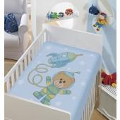 Cobertor Infantil Tradicional Azul 90x1,10m Jolitex