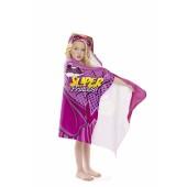 Toalha Aveludada Infantil c/ Capuz Barbie Super Princesa 60x1,27 Lepper