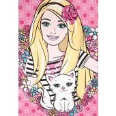 Toalha Estampada Banho Disney Barbie Love 70x1,20m Santista