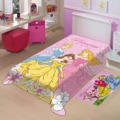 Cobertor Raschel Juvenil Princesas Solteiro 1,50x2,00m Jolitex