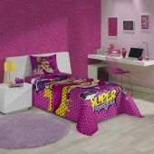 Jogo de Cama Estampado Barbie Super Princesa 2 pçs Solteiro Lepper