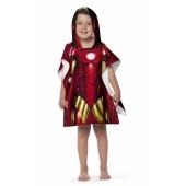 Toalha Poncho Infantil c/ Capuz Avengers Iron Man Lepper
