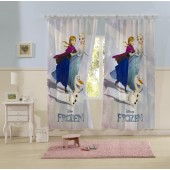 Cortina com Alça Infantil Estampada Frozen 1,50x2,20m 2pçs Lepper